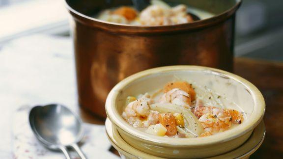 Rezept: Cremige Shrimps-Fenchel-Suppe