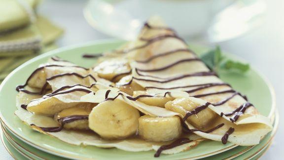 Rezept: Crêpes mit Banane und Schokolade
