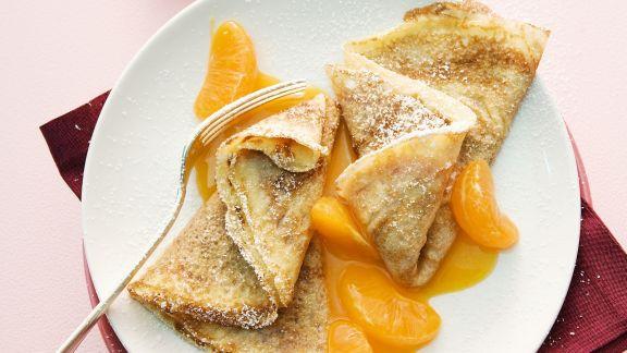 Rezept: Crêpes mit Mandarinen und Hagebutten