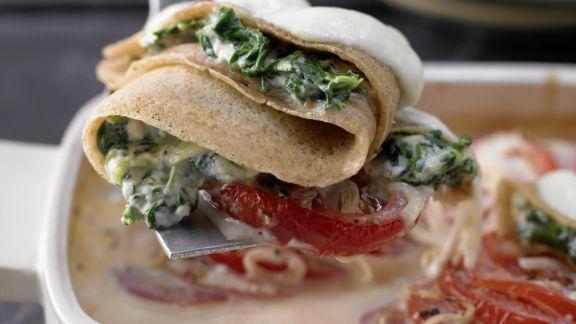 Rezept: Crespelle mit Spinat und Ricotta