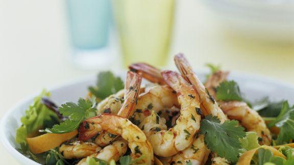 Rezept: Crevettensalat mit Petersilie