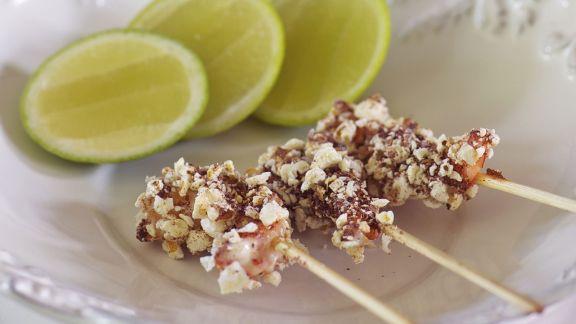 Rezept: Crevettenspieße mit Sumach