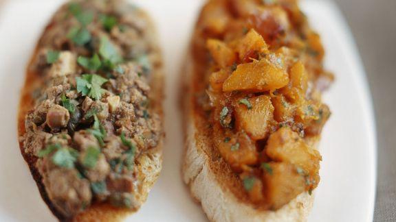 Rezept: Crostini mit Leber oder Süßkartoffeln