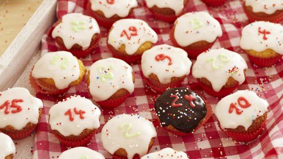 Rezept: Cupcakes als Adventskalender