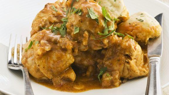 Rezept: Curry-Hähnchen mit Koriander