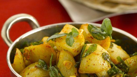Rezept: Curry-Kartoffeln mit Bockshornklee
