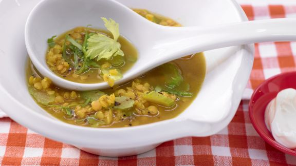 Rezept: Curry-Linsensuppe