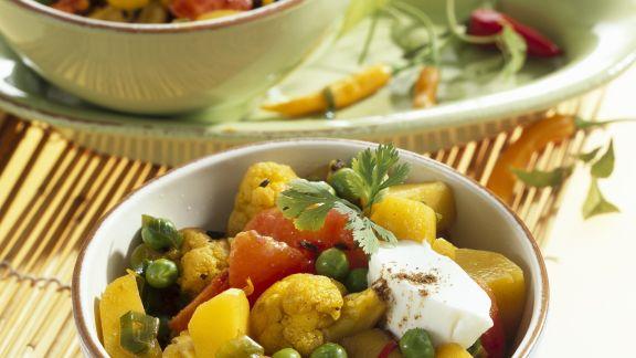 Rezept: Curry mit Blumenkohl