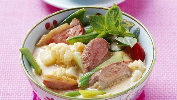Rezept: Curry mit Ente und Blumenkohl