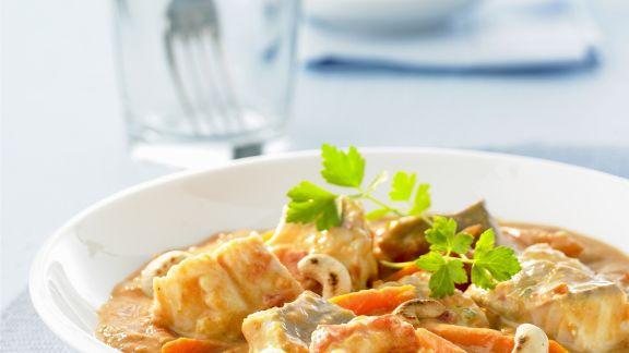 Rezept: Curry mit Fisch und Gemüse