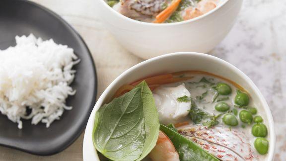 Rezept: Curry mit Fisch und Meeresfrüchten