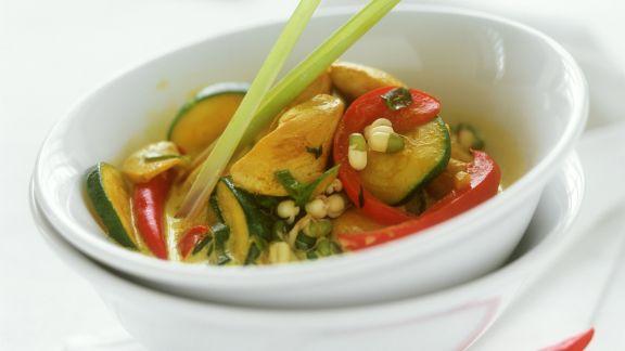 Rezept: Curry mit Geflügel