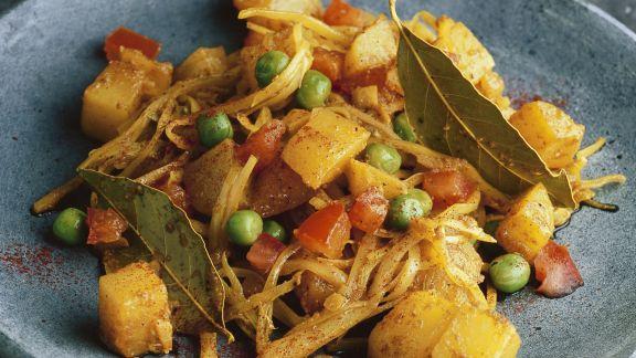 Rezept: Curry mit Weißkohl
