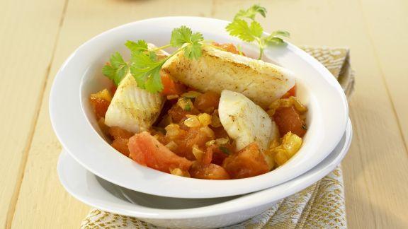 Rezept: Curry nach indischer Art mit Heilbutt