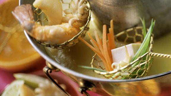 Rezept: Curryfondue mit Kokos