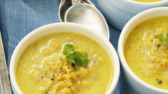 Rezept: Currysuppe mit Linsen