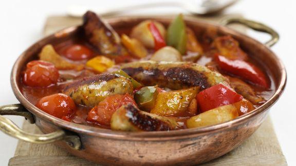 Rezept: Deftige Wurst-Gemüse-Pfanne