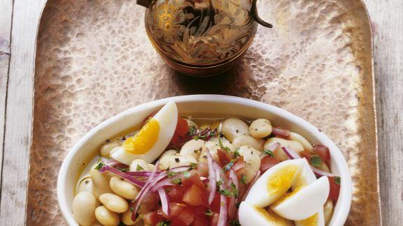 Rezept: Dicke Bohnen-Salat mit Ei