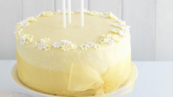 Rezept: Edle Zitronen-Gin-Torte