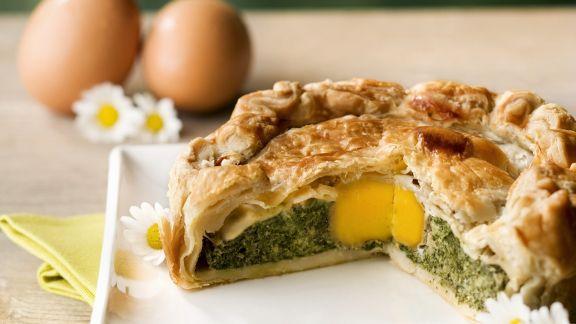 Rezept: Ei-Spinat-Torte zu Ostern