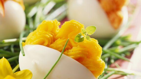 Rezept: Eier mit Lachscremefüllung