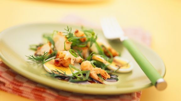 Rezept: Eiersalat mit Garnelen
