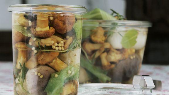 Rezept: Eingelegte Pilze