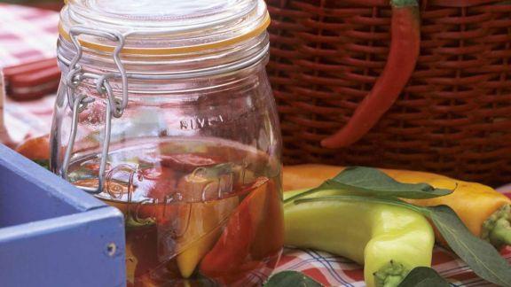 Rezept: Eingelegte Spitzpaprika