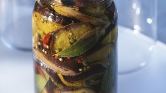 Rezept: Eingemachte Auberginen