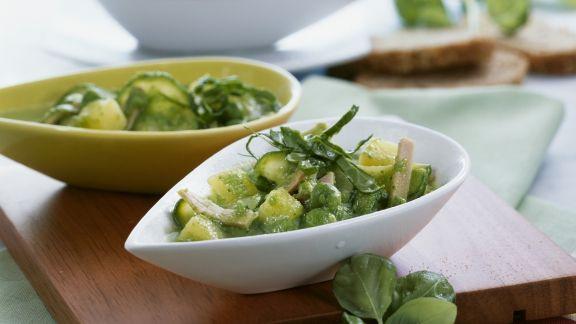 Rezept: Eintopf aus grünem Gemüse mit Schinken