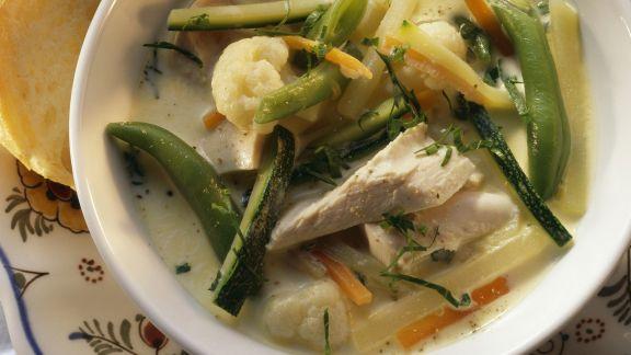 Rezept: Eintopf mit Hähnchen und Gemüse auf belgische Art (Waterzooi)
