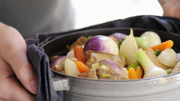 Rezept: Eintopf mit Kalb und Gemüse auf französische Art