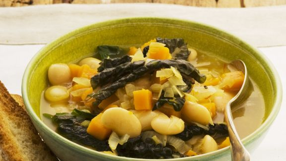 Rezept: Eintopf mit Kürbis und Limabohnen