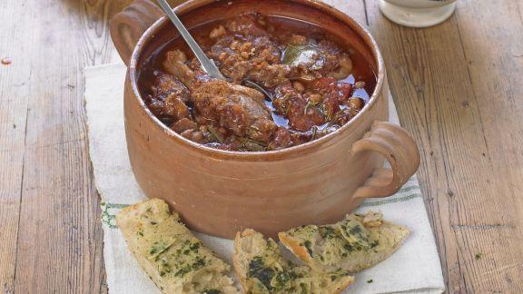 Rezept: Eintopf mit Schweinefleisch und Ente (Cassoulet)