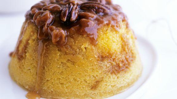 Rezept: Englischer Pudding mit Walnüssen