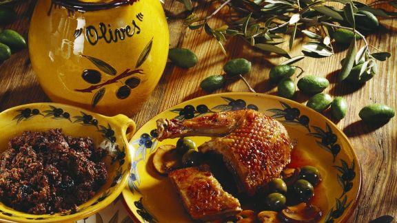 Rezept: Ente mit Oliven gefüllt
