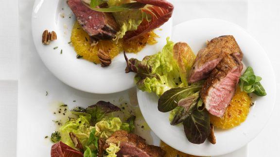 Rezept: Entenbrust auf Salat
