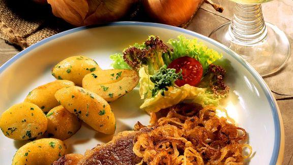 Rezept: Entrecôtes mit Kartoffeln
