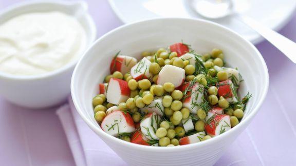 Rezept: Erbsen-Surimi-Salat mit Dill