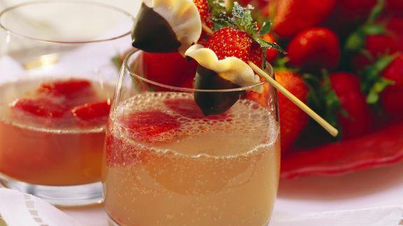 Rezept: Erdbeer-Drink