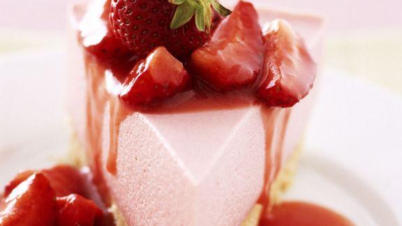 Rezept: Erdbeer-Frischkäse-Kuchen