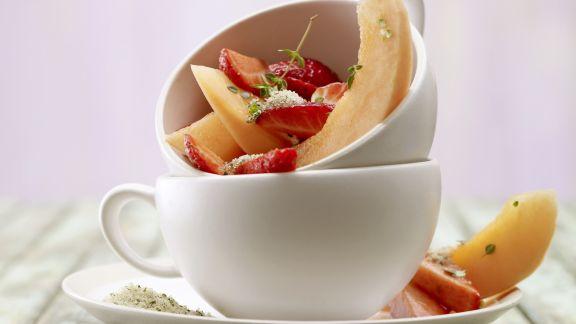Rezept: Erdbeer-Melonen-Salat