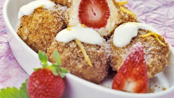 Rezept: Erdbeer-Quarkknödel