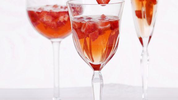 Rezept: Erdbeer-Sekt