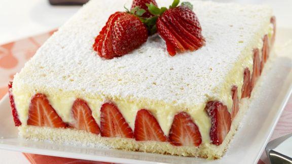 Rezept: Erdbeer-Vanille-Torte