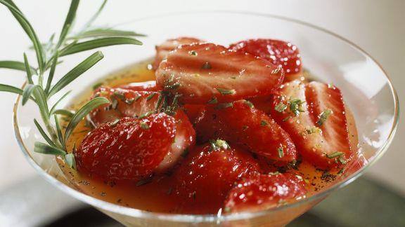 Rezept: Erdbeeren in Orangensauce