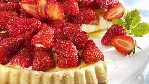 Rezept: Erdbeerkuchen mit Vanillecreme
