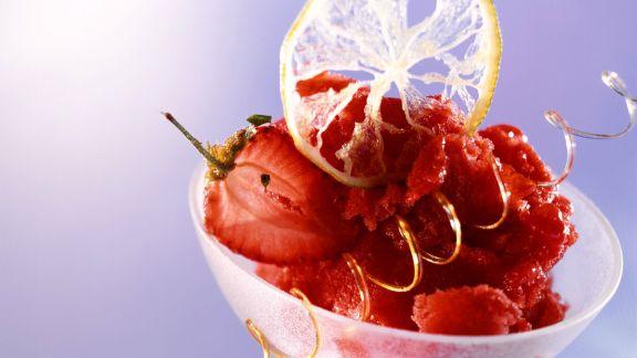 Rezept: Erdbeersorbet