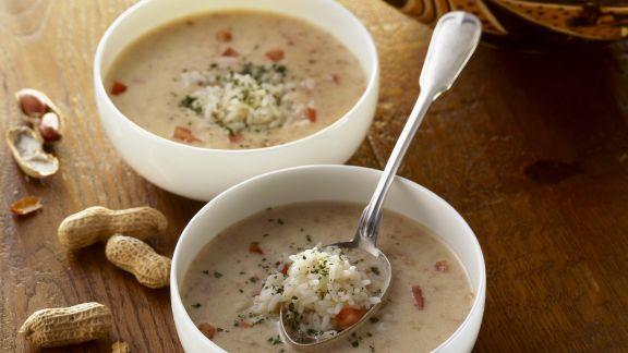 Rezept: Erdnuss-Reis-Suppe