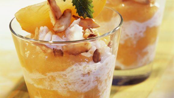 Rezept: Exotischer Milchreis mit Kokos und Kaki